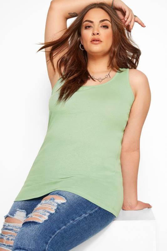 Vests & Camis Tallas Grandes Sage Green Vest Top