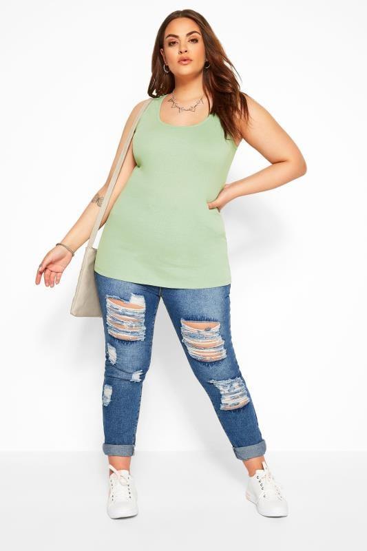 Sage Green Vest Top
