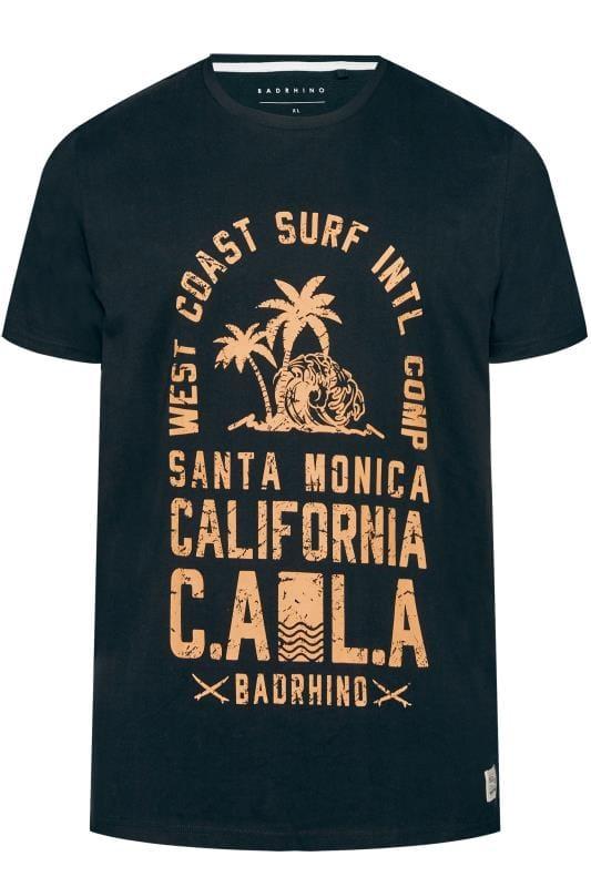Black Santa Monica Print T-Shirt