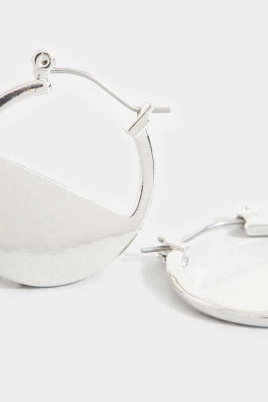 Kreolen in Halbkreis-Design - Silberfarben