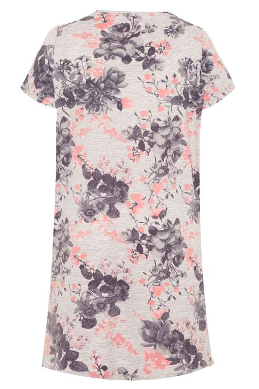Grey & Pink Floral Nightdress