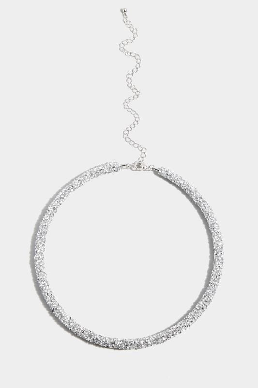 Silver Bead Choker Necklace