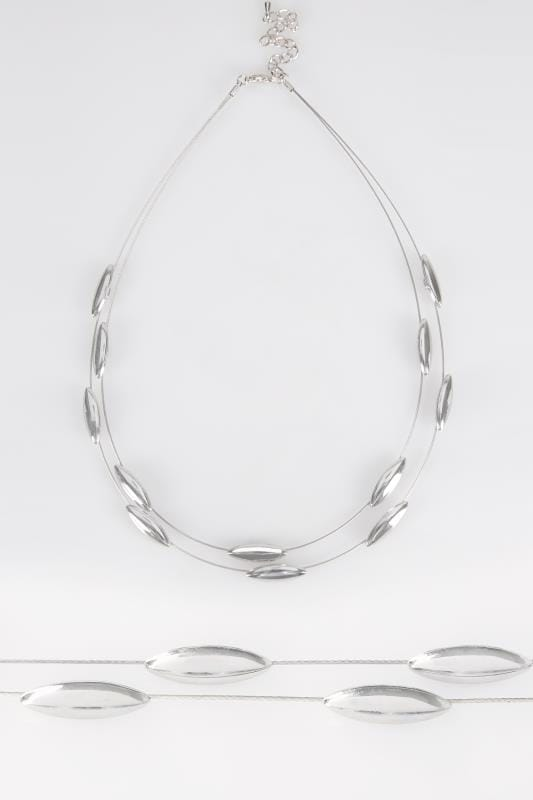Silver Bead Wire Necklace