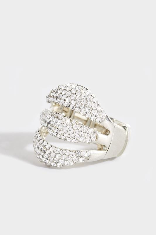 Silver Bling Wave Ring
