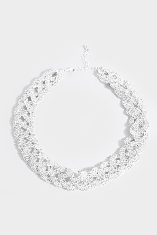Silver Diamante Choker