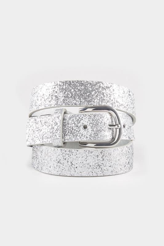 Silver Glitter Belt