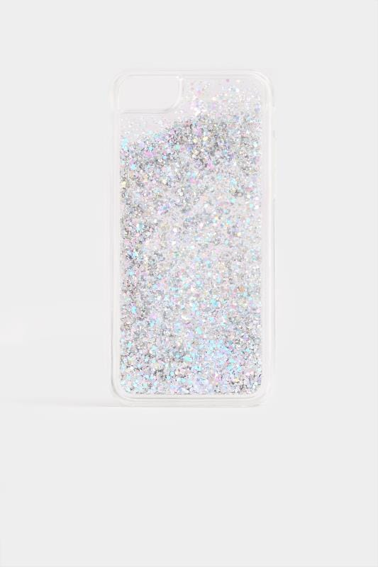 Plus Size Phone Cases Silver Glitter Phone Case