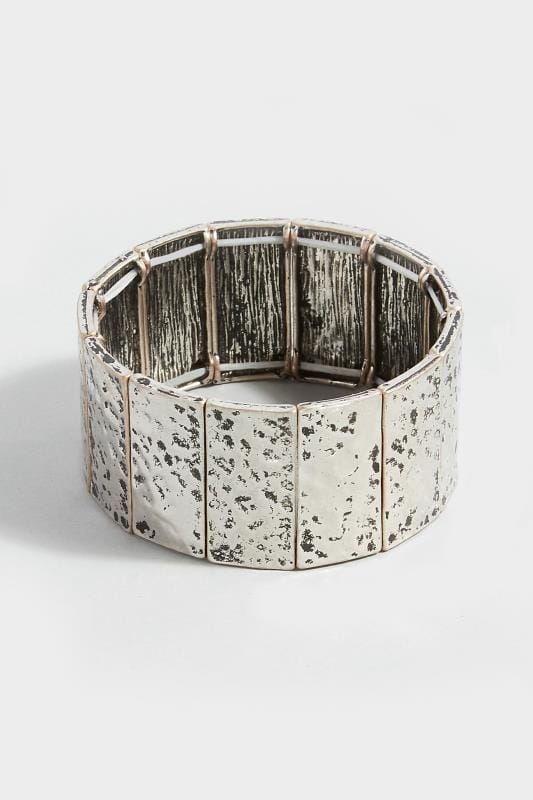 Silver Hammered Cuff Bracelet