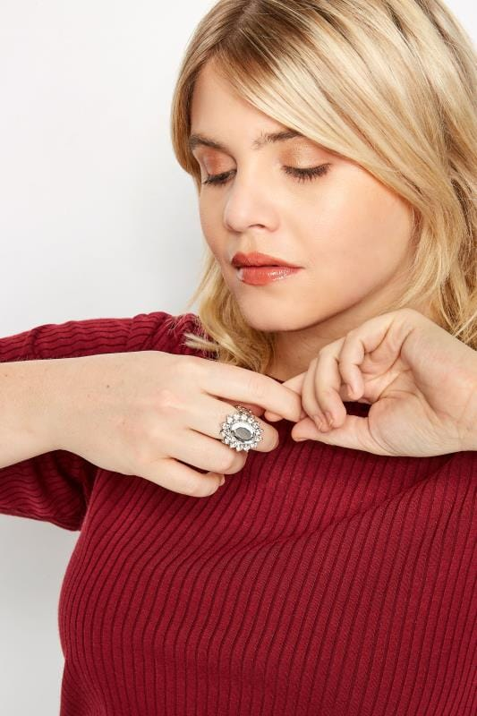Plus Size Rings Silver Jewel Ring