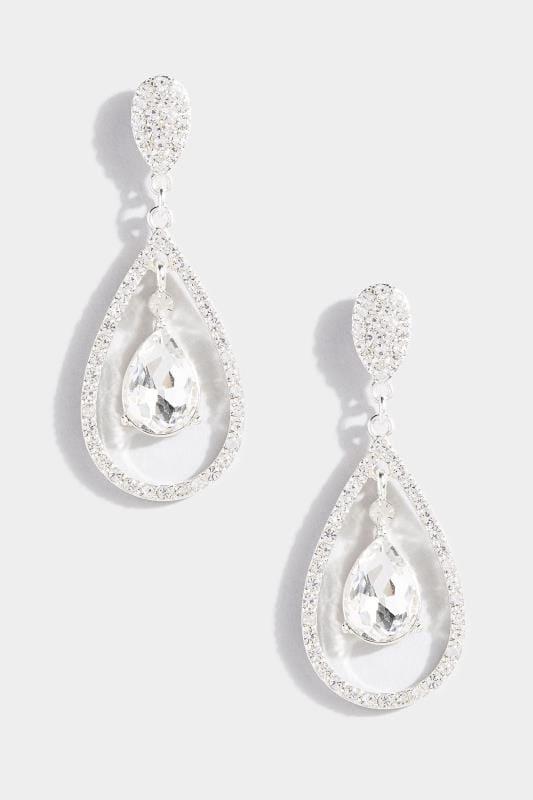 Silver Multi Teardrop Earrings