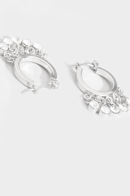 Silver Tassel Hoop Earrings
