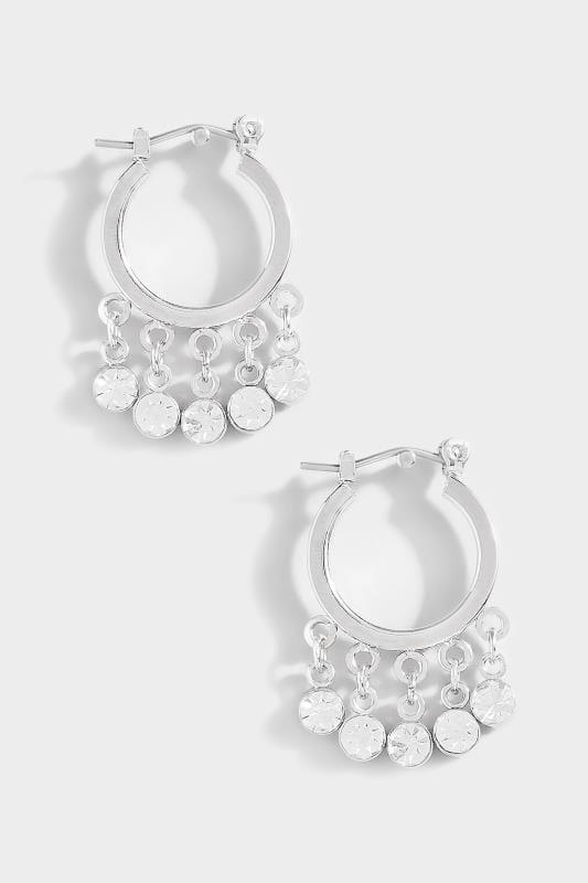 Quasten-Ohrringe - Silberfarben