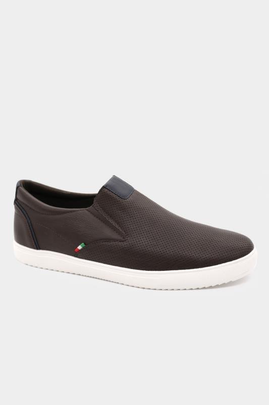 Footwear D555 Brown Slip On Trainers 202060