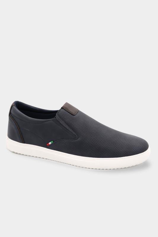Footwear D555 Navy Slip On Trainers 202061