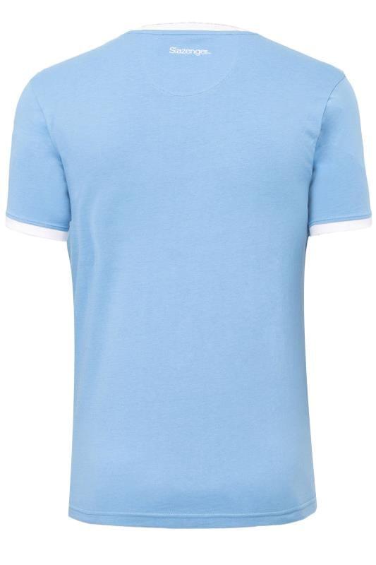 SLAZENGER Blue Printed T-Shirt