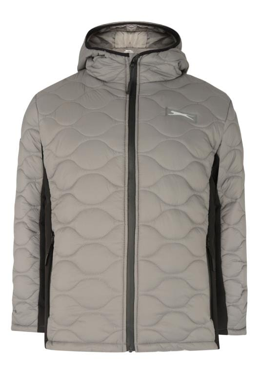Plus Size Jackets SLAZENGER Grey Contrast Padded Jacket