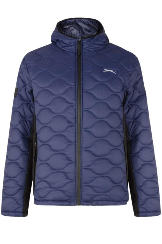Men's Bags & Purses SLAZENGER Navy Contrast Padded Jacket