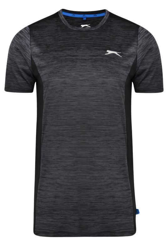 T-Shirts SLAZENGER Black Marl Mesh Sports Top 201593