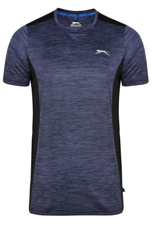 Plus Size T-Shirts SLAZENGER Navy Marl Mesh Sports Top