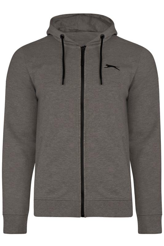SLAZENGER Charcoal Grey Zip Through Hoodie