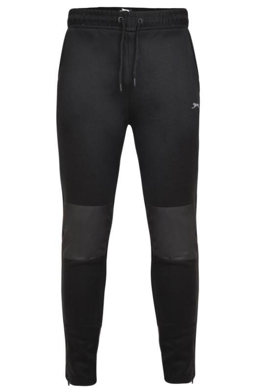 Joggers Tallas Grandes SLAZENGER Black Panelled Joggers