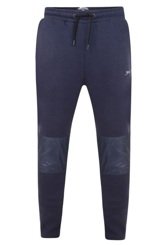 Joggers Grande Taille SLAZENGER Navy Panelled Joggers