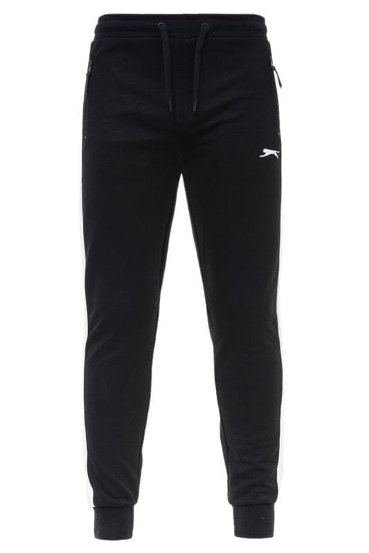 SLAZENGER Black Side Stripe Joggers