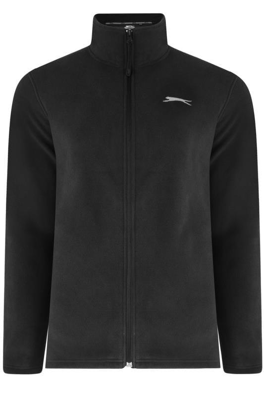 Fleece Grande Taille SLAZENGER Black Zip Through Fleece