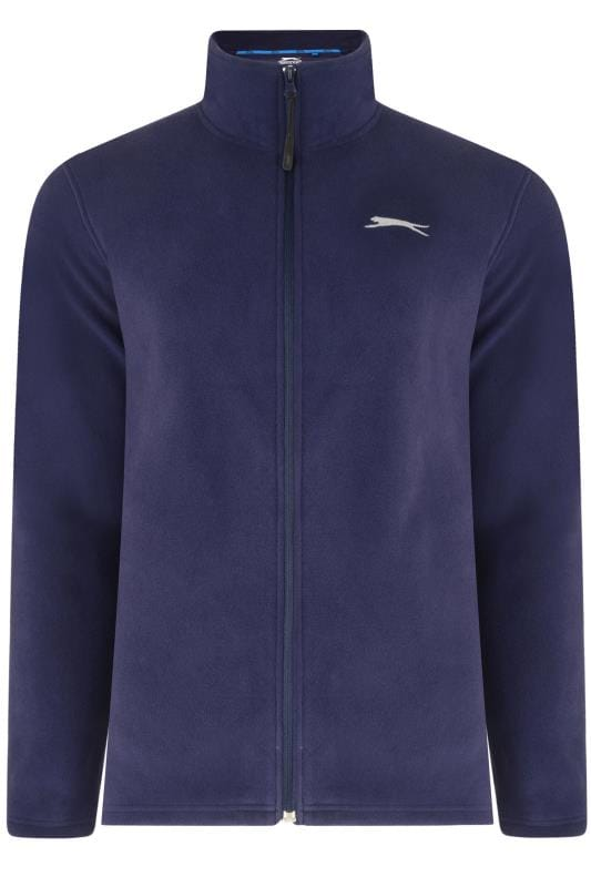 Fleece Grande Taille SLAZENGER Navy Zip Through Fleece