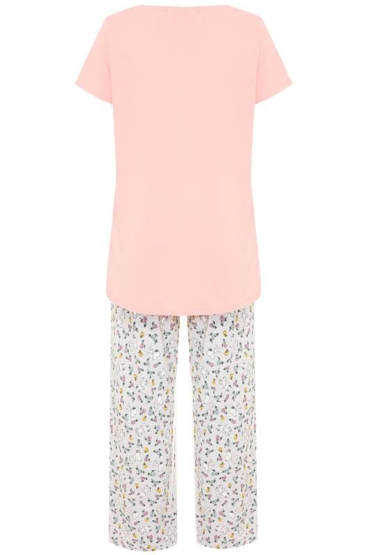 Pink Snoopy Slogan Pyjama Set