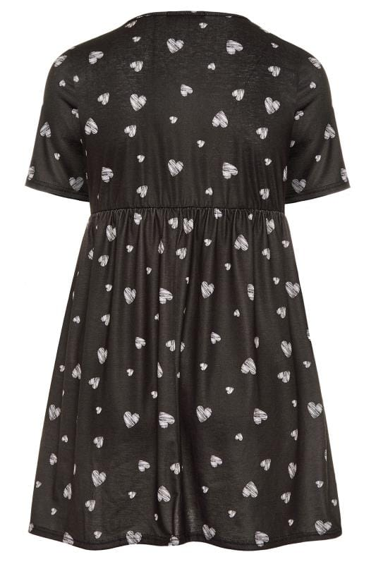LIMITED COLLECTION Black Heart Jersey Smock Dress