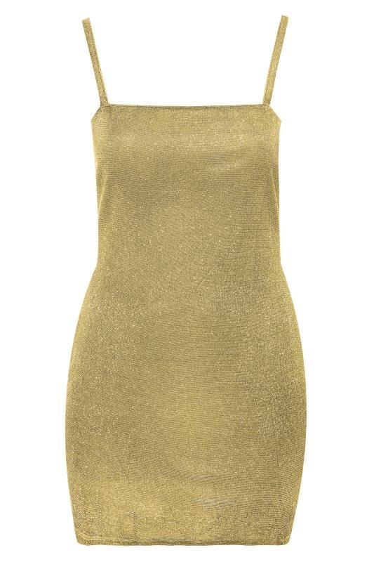 LIMITED COLLECTION Gold Glitter Strappy Dress