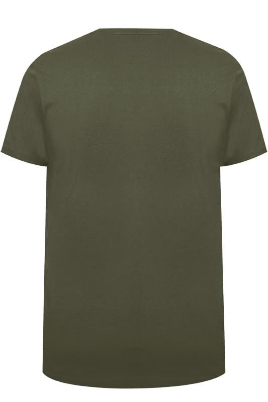 BadRhino Khaki Graphic Printed T-Shirt