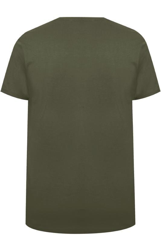 BadRhino Khaki Graphic Printed T-Shirt