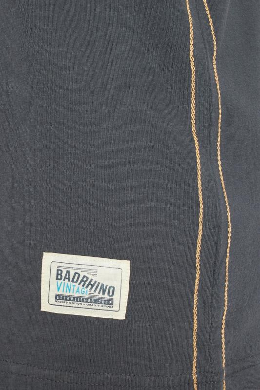BadRhino Charocal Grey 'Superbike' Graphic T-Shirt