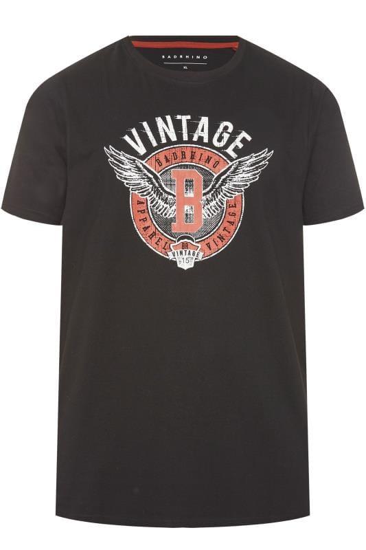 BadRhino Black Vintage Graphic T-Shirt