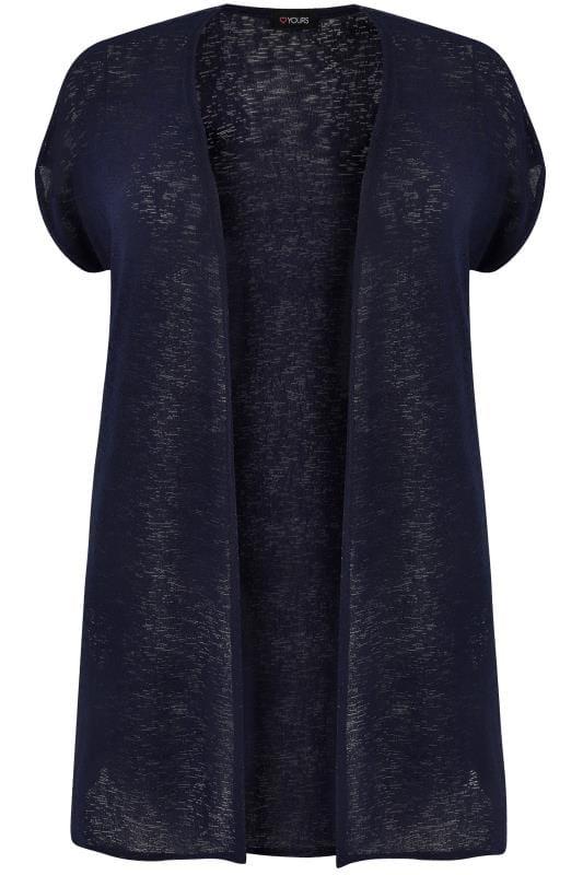 Navy Short Sleeve Cardigan