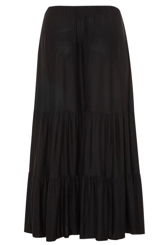 Black Tiered Maxi Skirt