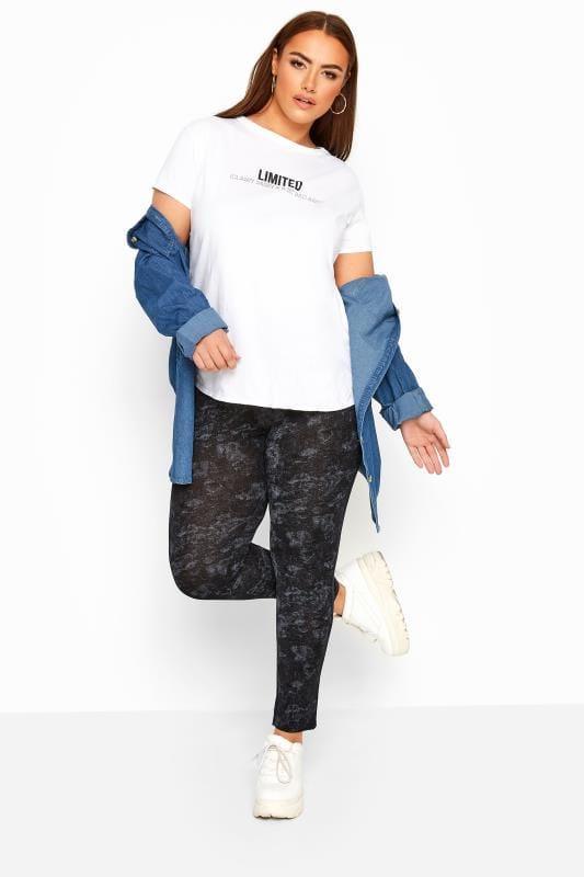 Plus Size Fashion Leggings LIMITED COLLECTION Black & Grey Leggings