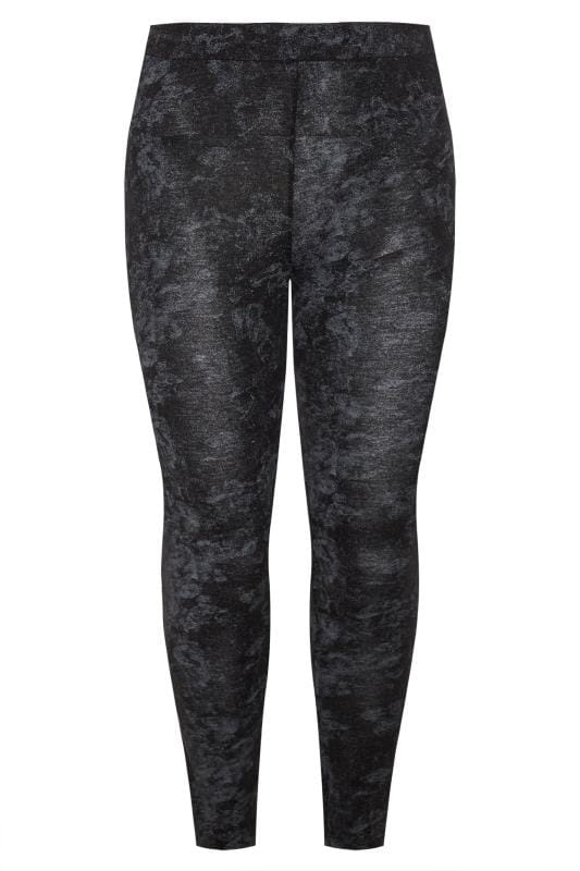 LIMITED COLLECTION Black & Grey Tie Dye Leggings