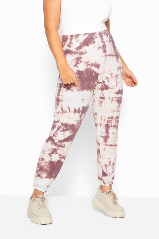 Plus Size Joggers LIMITED COLLECTION Pink Tie Dye Joggers
