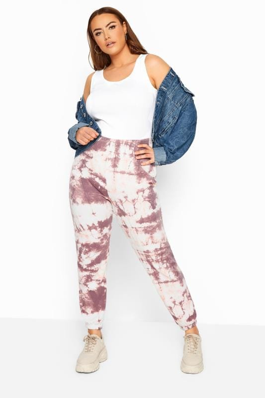 LIMITED COLLECTION Pink Tie Dye Joggers