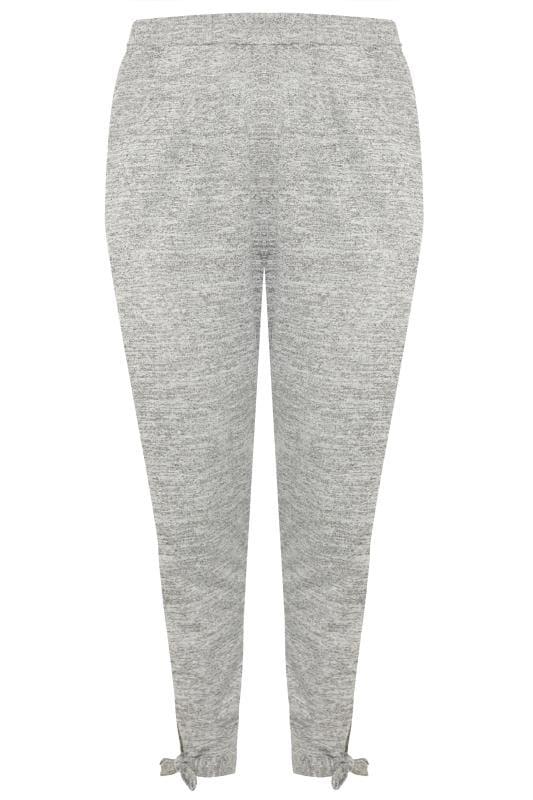 Grey Marl Tie Hem Lounge Pants