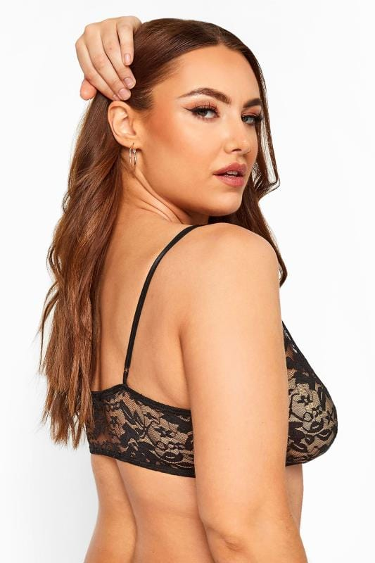 LIMITED COLLECTION Black Lace Tie Front Bralette