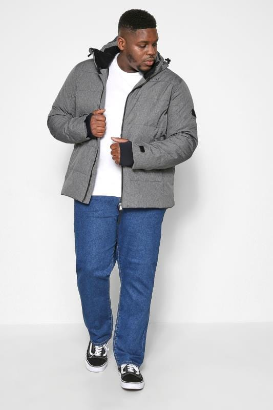 TOG24 Grey Marl Down Quilted Ski Jacket