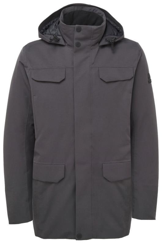 TOG24 Grey Waterproof Down Parka Coat