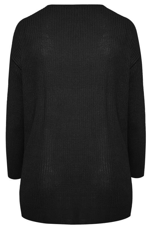 Black Twist Front Knitted Jumper