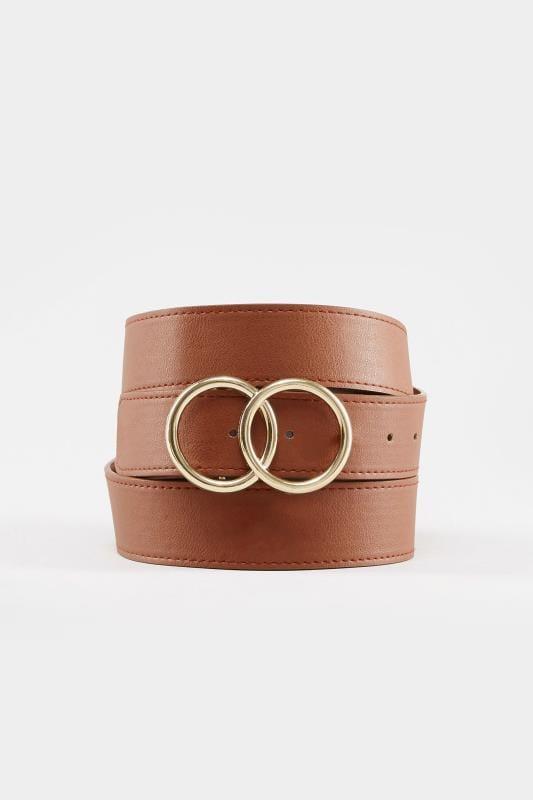 Tan Double Circle Belt
