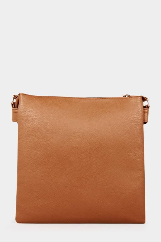 Tan Zip Cross Body Bag