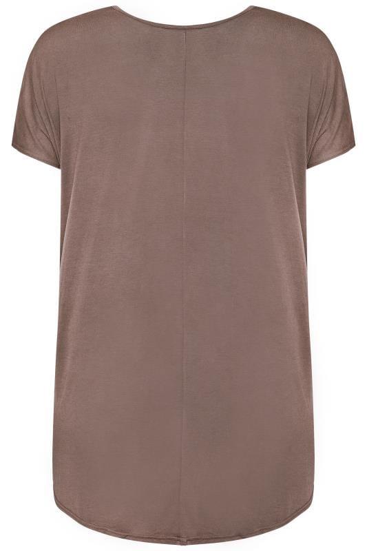 Taupe Leopard Star Print T-Shirt